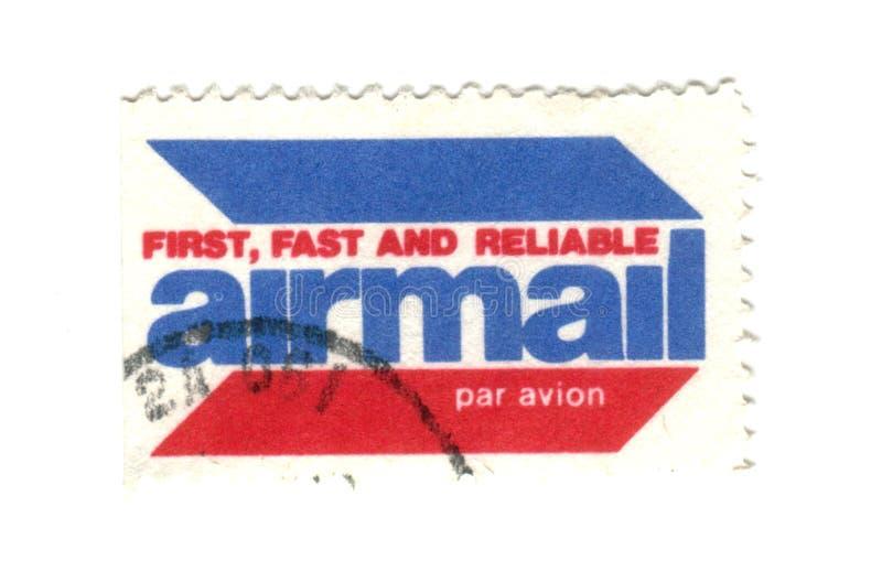 Viejo sello del correo aéreo de los E.E.U.U. imagenes de archivo