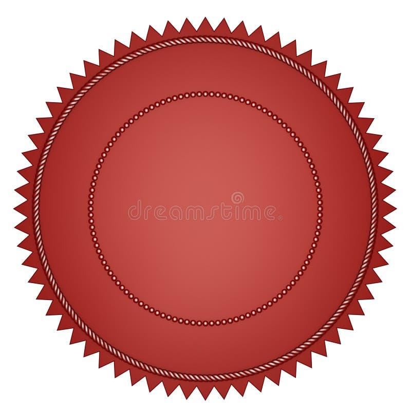 Viejo sello rojo fotos de archivo libres de regalías