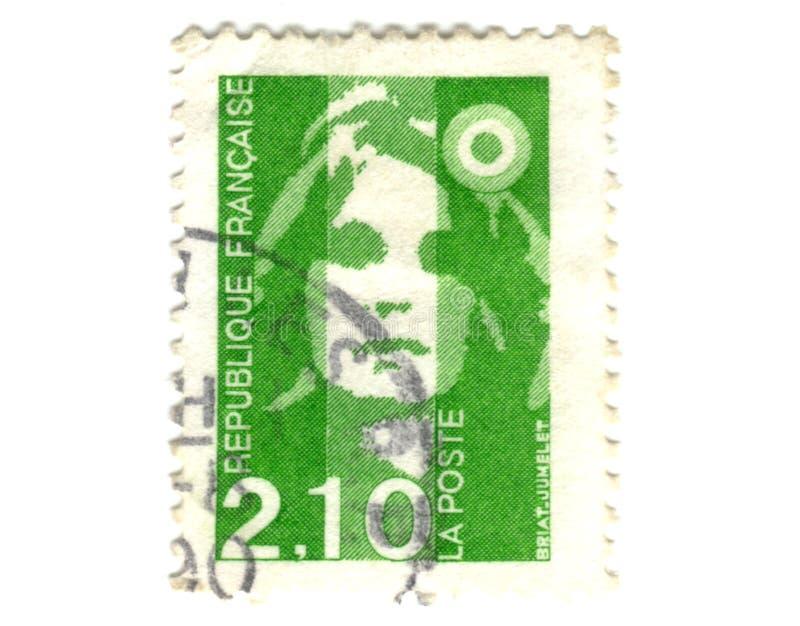 Download Viejo Sello Verde Del Francés Foto de archivo - Imagen de francia, carta: 7283024