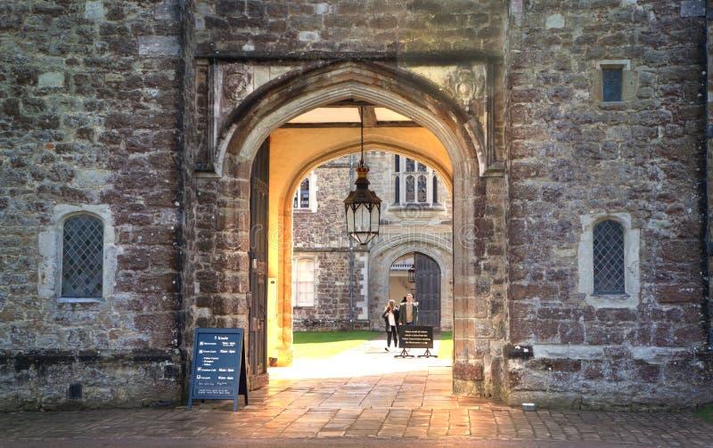 Viejo siglo XV inglés de la mansión de Sevenoaks Casa inglesa clásica del lado del país Reino Unido foto de archivo