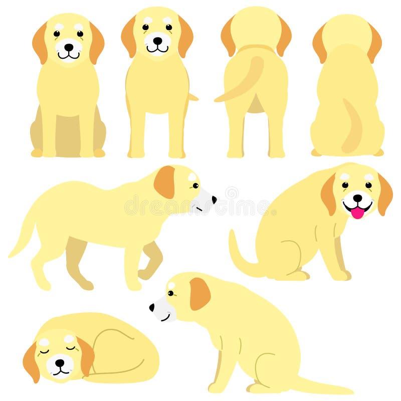 Viejo sistema de las posturas del perro libre illustration