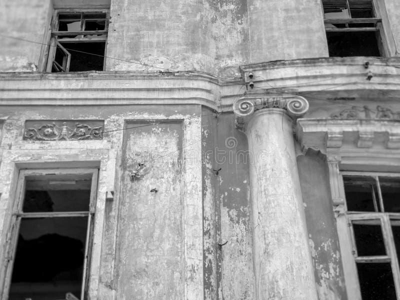 Viejo sitio con las columnas Construcción antigua arquitectónica fotografía de archivo libre de regalías