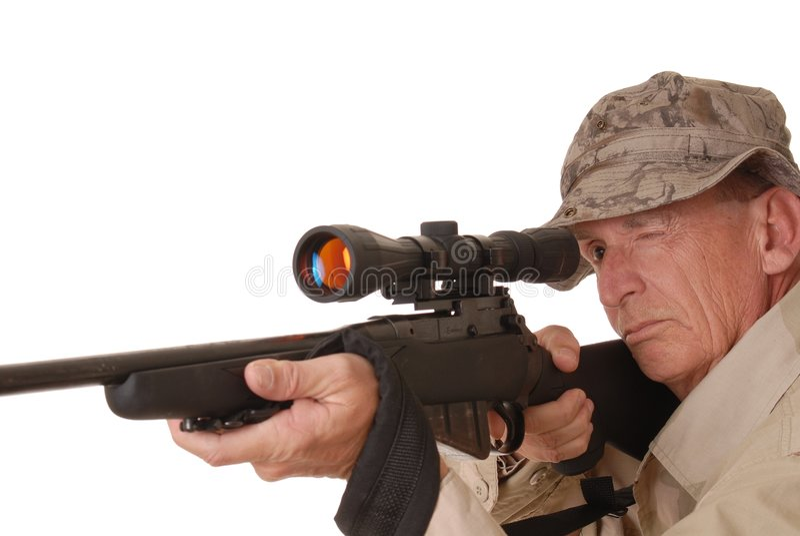 Viejo soldado 1 fotografía de archivo
