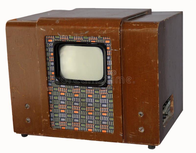 Viejo soviet TV   foto de archivo libre de regalías