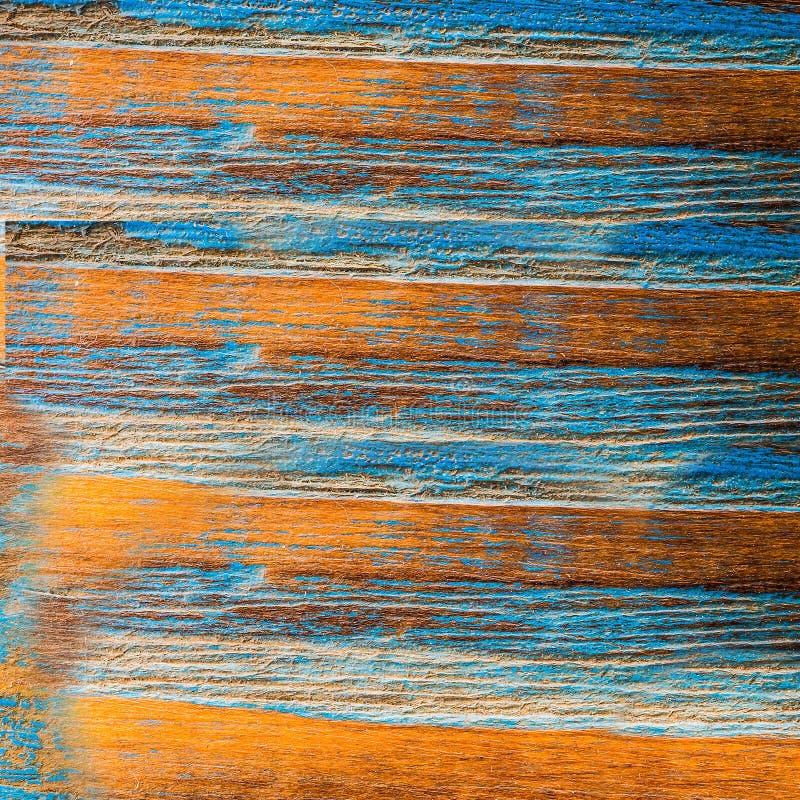 Viejo tablero azul amarillo putrefacto con el molde imagen de archivo libre de regalías