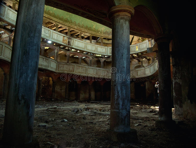 Viejo teatro imagen de archivo