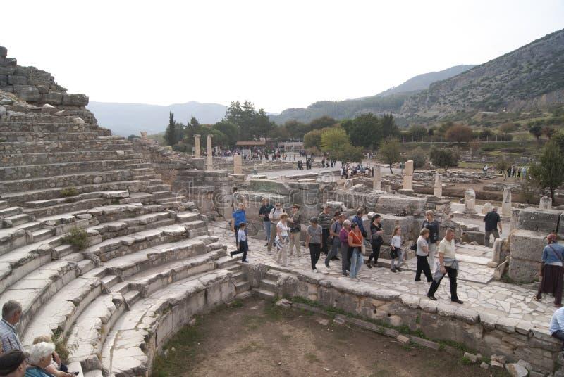 Viejo teatro de Ephesus foto de archivo libre de regalías