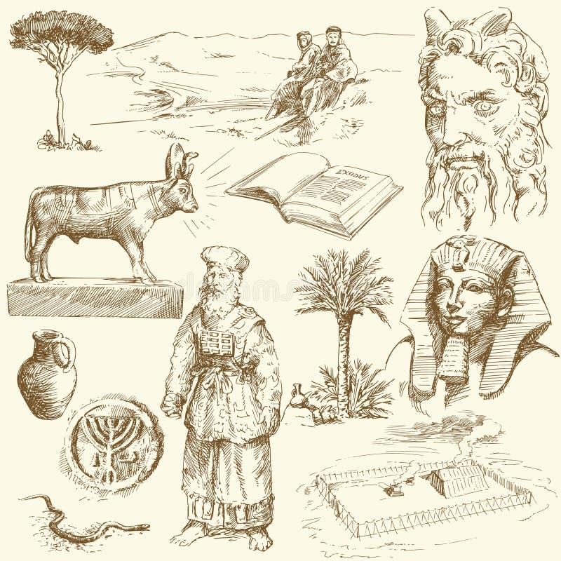 Viejo testamento - moses ilustración del vector