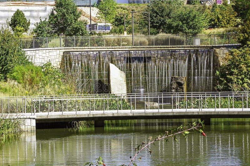 Viejo 4to Ward Park Water Retention Pond fotos de archivo