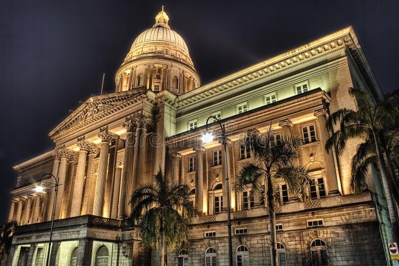 Viejo Tribunal Supremo de Singapur foto de archivo libre de regalías