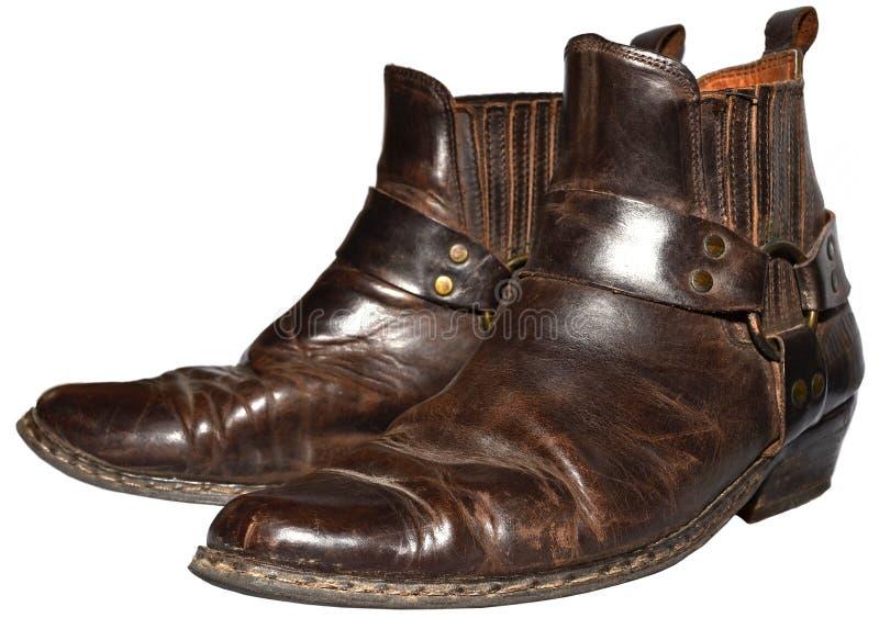 Viejo vaquero Boots fotografía de archivo