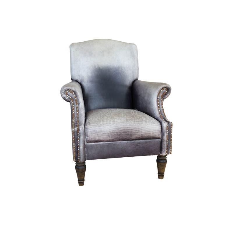 Viejo vintage de cuero de la silla del sofá fotos de archivo