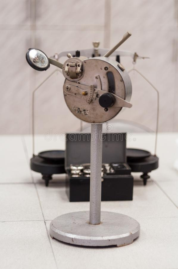 Viejo vintage del refractómetro fotografía de archivo libre de regalías