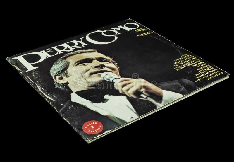 Viejo vintage Perry Como Album fotografía de archivo libre de regalías
