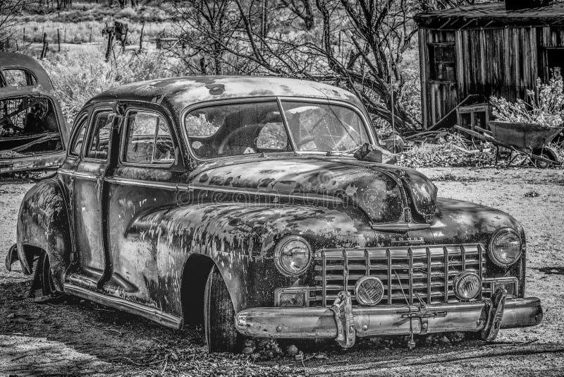 Viejo y oxidado BENTON automotriz, los E.E.U.U. - 29 DE MARZO DE 2019 fotografía de archivo libre de regalías