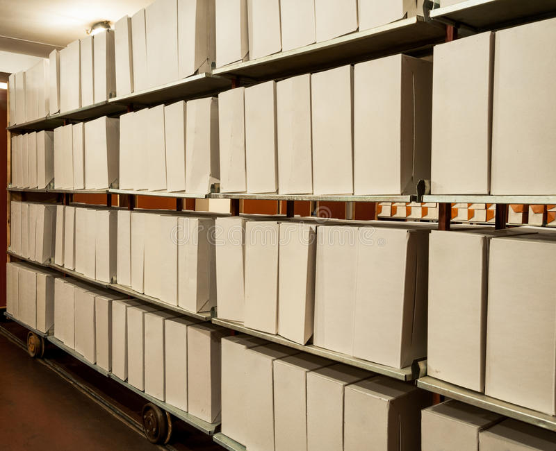 Viejos archivos de almacenamiento imagenes de archivo