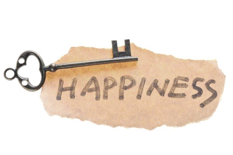 Viejos clave y palabra de la felicidad foto de archivo libre de regalías