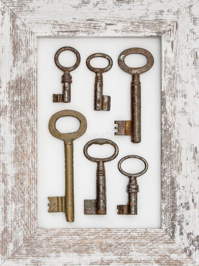 Viejos claves del metal fotografía de archivo