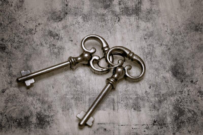 Viejos claves esqueléticos fotografía de archivo