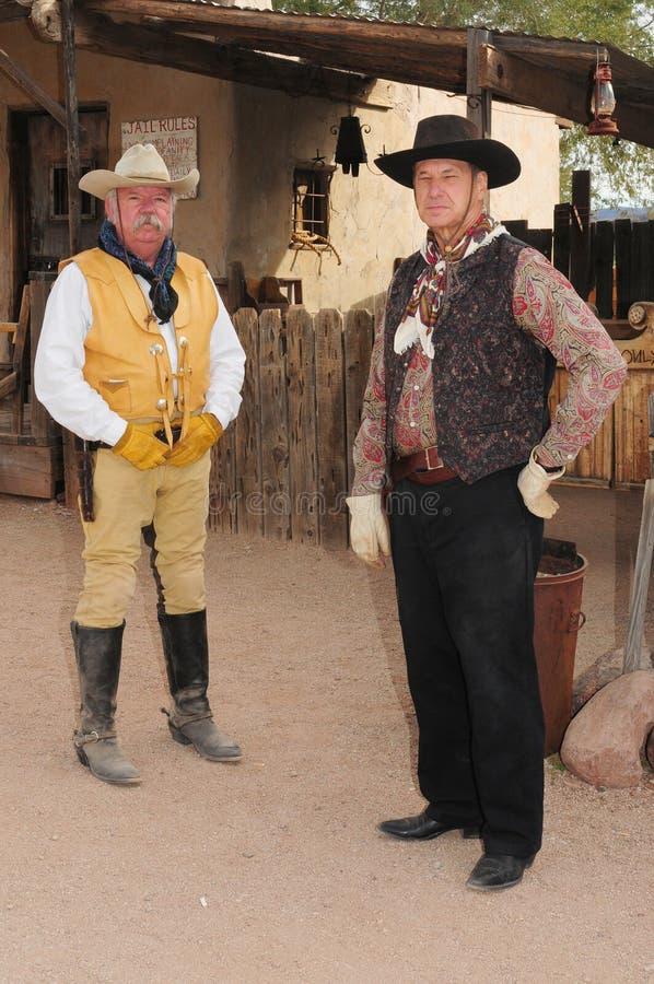 Viejos Gunfighters del oeste americanos foto de archivo
