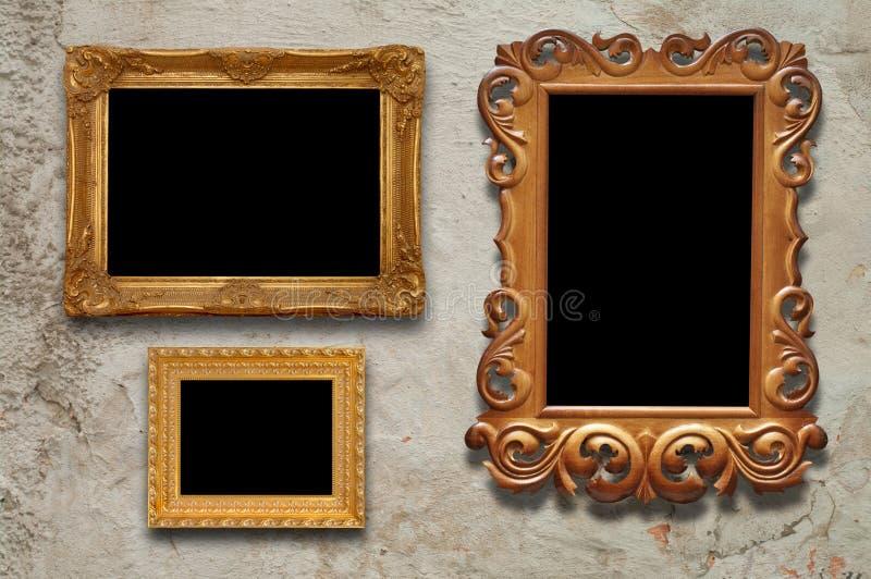 Viejos marcos fotos de archivo