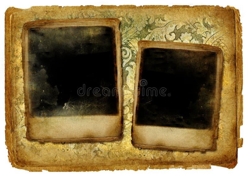 Viejos marcos stock de ilustración