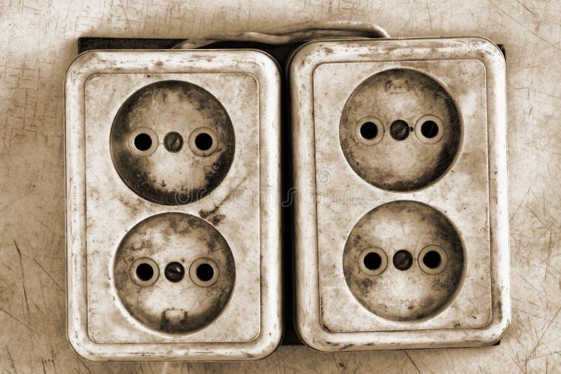 Viejos mercados eléctricos sucios imagen de archivo