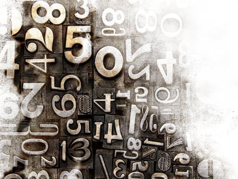 Viejos números compuestos tipo imagen de archivo libre de regalías