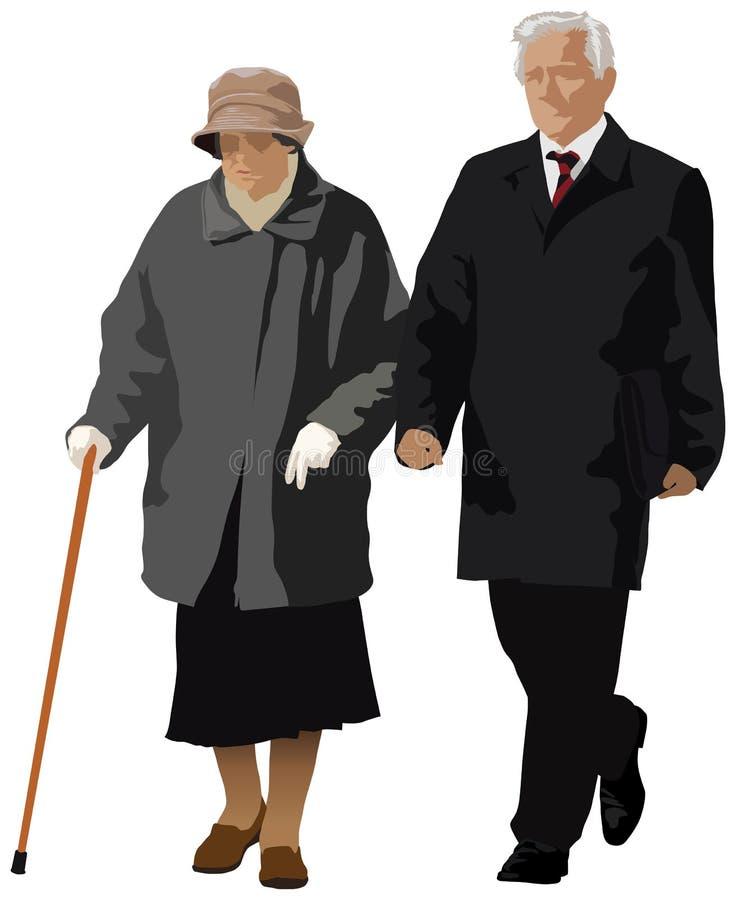 Viejos pares libre illustration