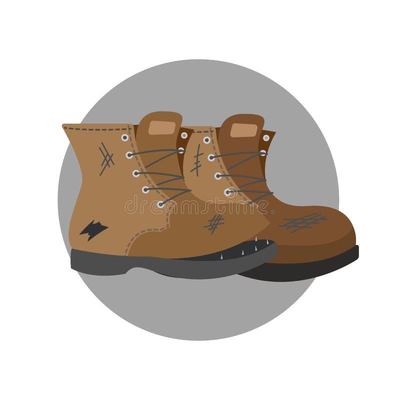 Viejos pares de zapatos marrones Botas rasgadas libre illustration