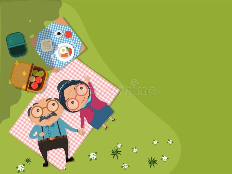Viejos pares del hombre mayor y de la mujer libre illustration