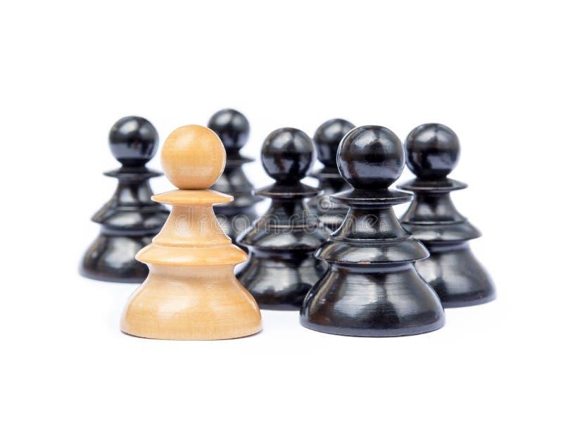 Viejos pedazos de ajedrez foto de archivo libre de regalías