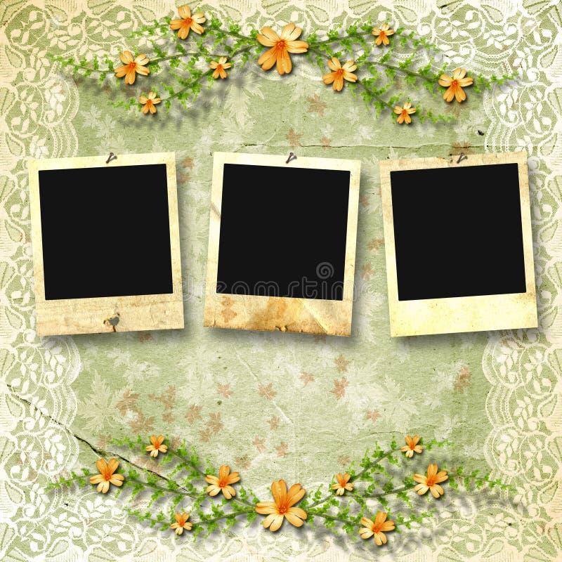 Viejos photoframes imagen de archivo libre de regalías