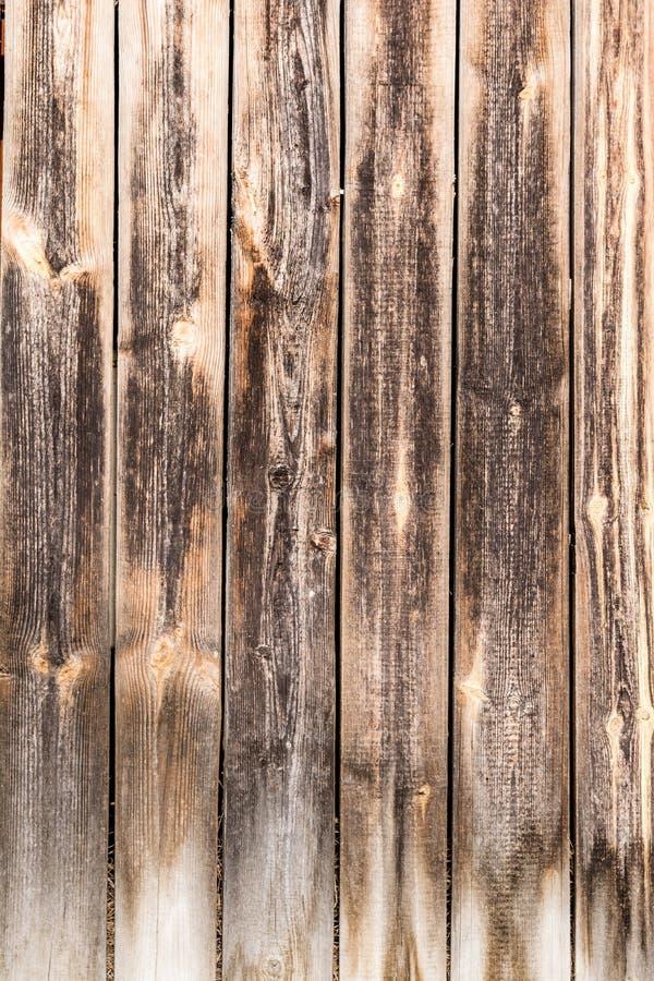 Viejos tableros resistidos verticales, textura de los paneles de madera antiguos oscuros, fondo de la abstracción de la decoració imagen de archivo libre de regalías