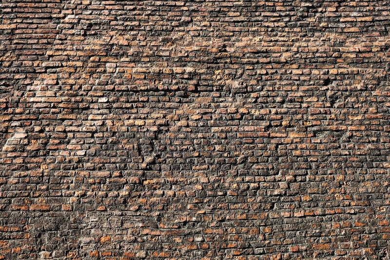 Viejos textura y fondo mismos de la pared de ladrillo imagen de archivo