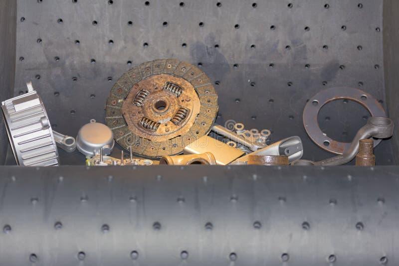 Viel Art des Produktes in der Reinigungsmaschine der geschossenen Explosion oder im Entrostungsprozeß lizenzfreies stockfoto