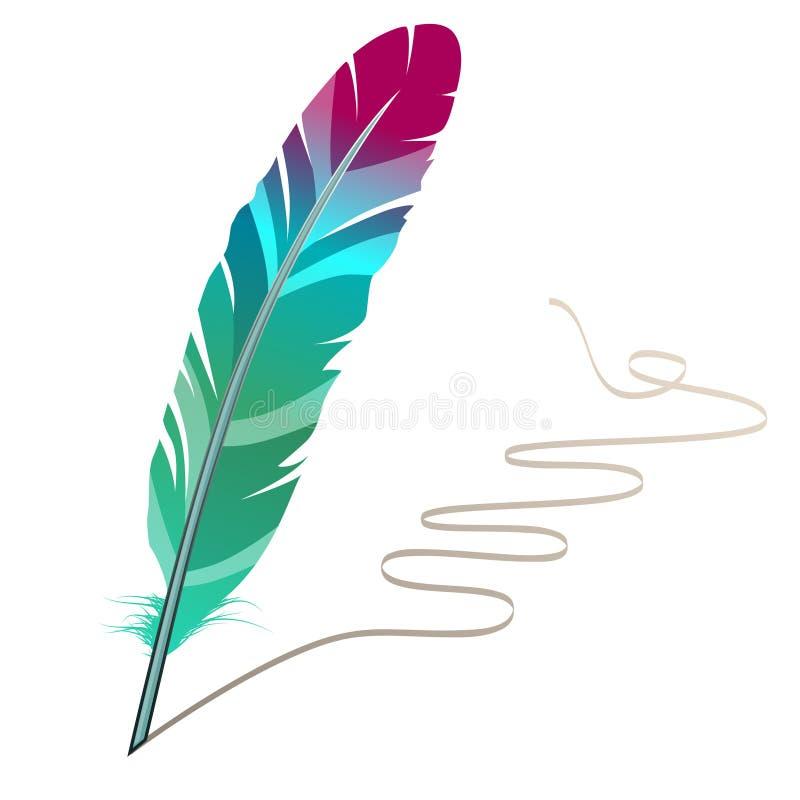 Viel-farbige Feder vektor abbildung. Illustration von viele - 17288231