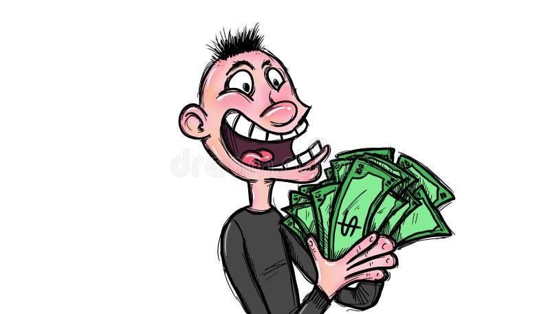 Viel Geld besitzen stock abbildung