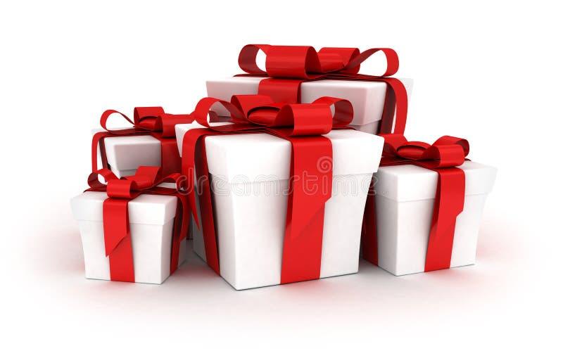 Viel Geschenk lizenzfreie abbildung