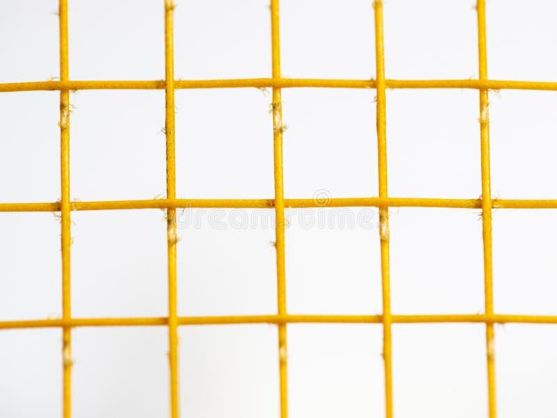 Viel ist orange Schnurbadminton damnage, wenn es in der langen Zeit spielt stockbilder