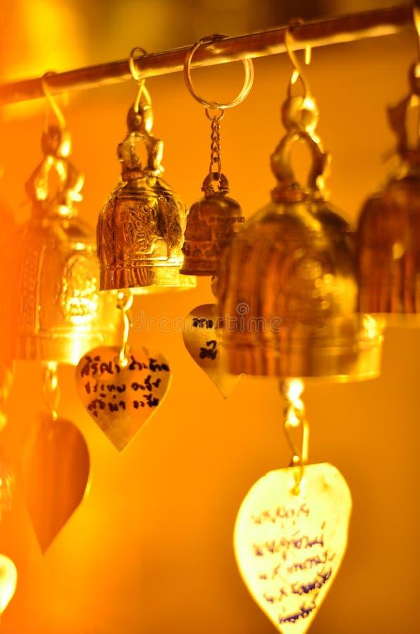 viel kleine bhuddha Glocke stockfoto