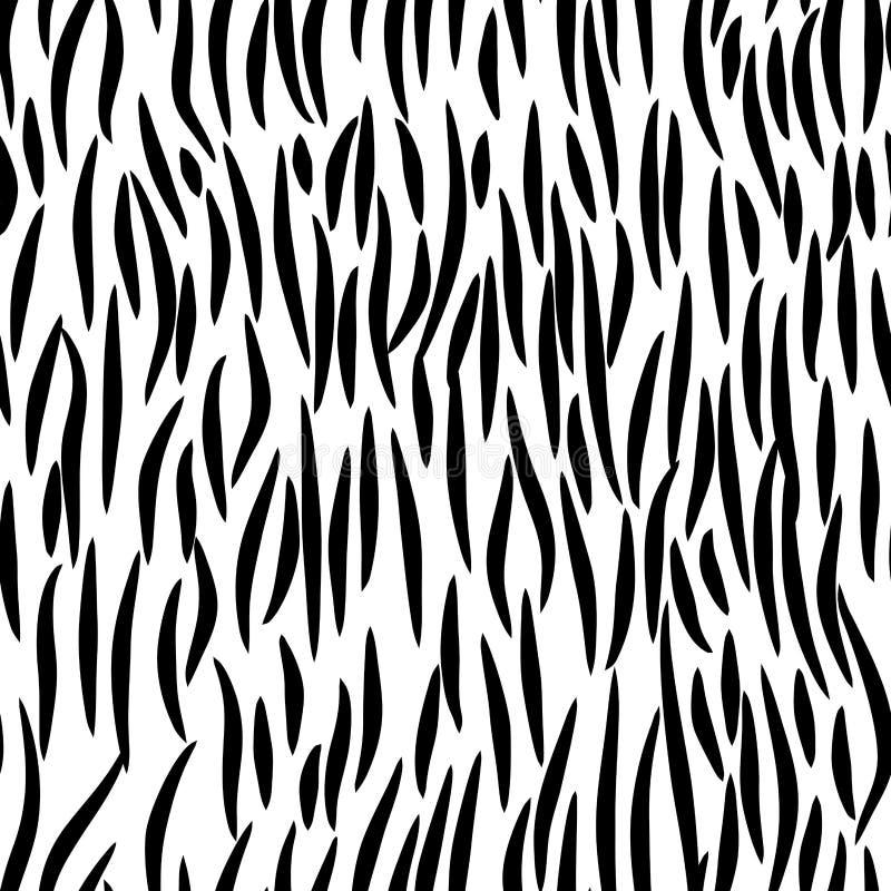 Viel naadloos patroon Dierlijk haarornament De textuur van het bont vector illustratie