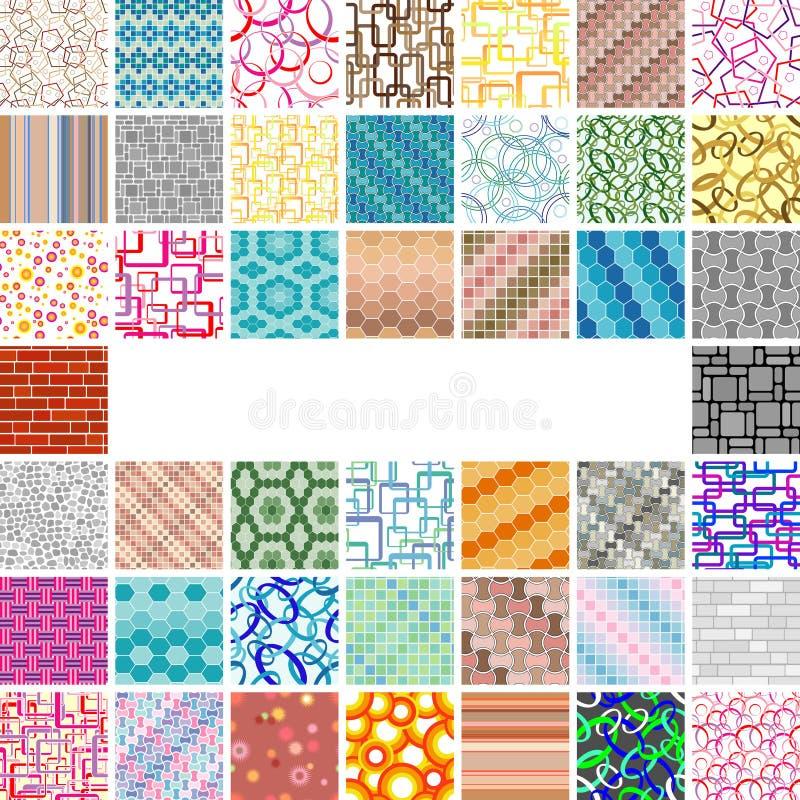Viel-viele nahtlosen Muster lizenzfreie abbildung
