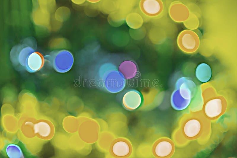 Viele blured Bakterien schließen oben unter dem Mikroskop Auszug stockfotografie