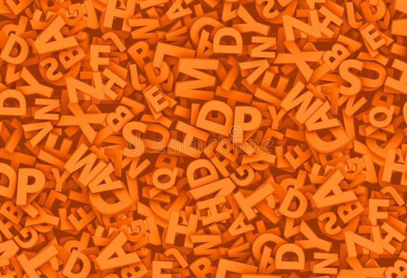 Viele Buchstaben 3D lizenzfreie abbildung