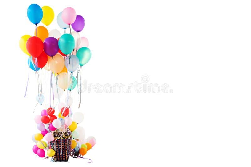 Viele bunt vom Helium-Ballon stockbild