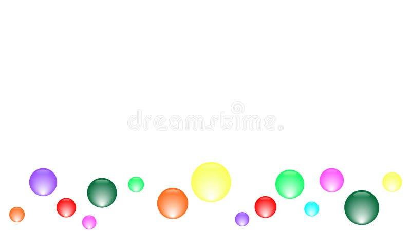 Viele bunten Bälle oder Blasenrahmen vektor abbildung