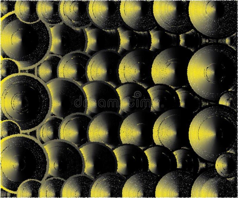 Viele Deckel gelb und schwarze Farben vektor abbildung
