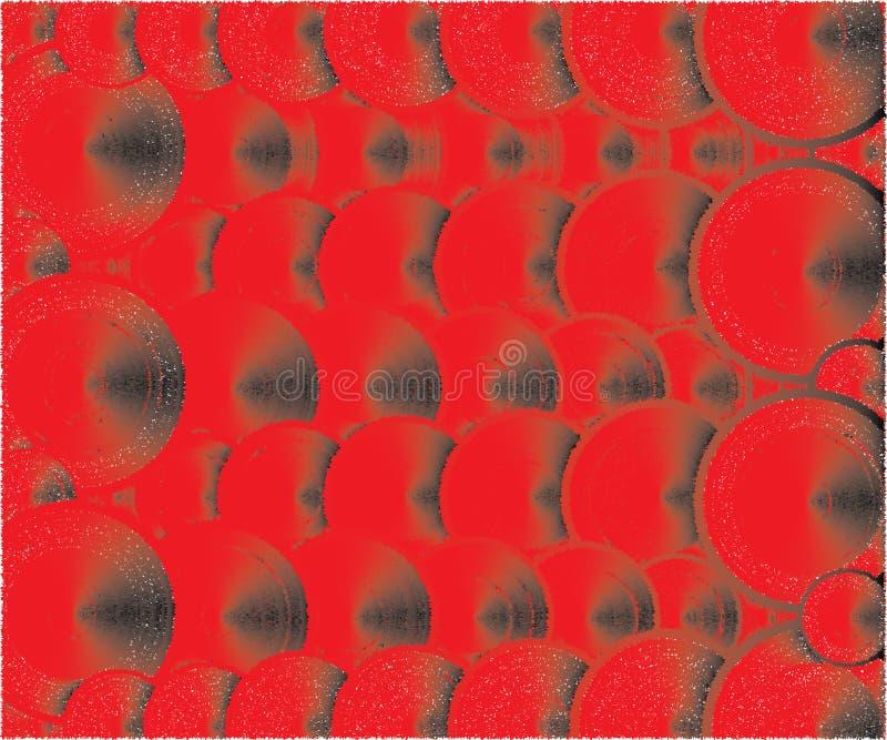 Viele Deckel rot und schwarze Farben vektor abbildung