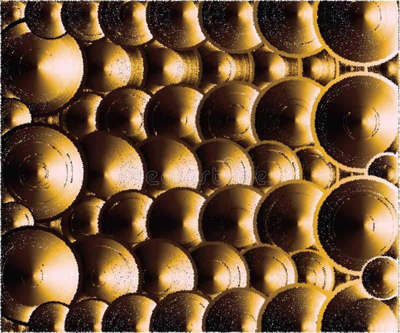 Viele Deckel, sehend wie ein Gold aus stock abbildung